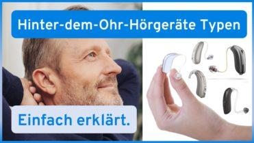 Arten von Hinter-dem-Ohr-Hörgeräten (BTE vs. RIC)