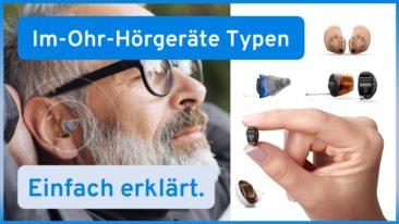 Arten von Im-Ohr-Hörgeräten (ITE, ITC, CIC, IIC)